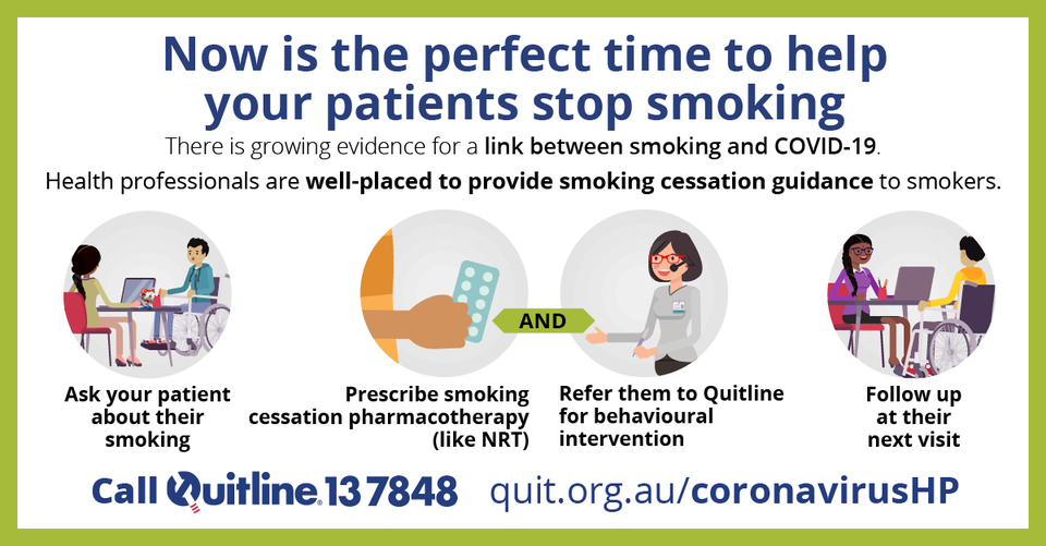 Health professionals can help their patients quit for COVID