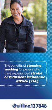 Benefits of stopping smoking for people who have experienced stroke pamphlet