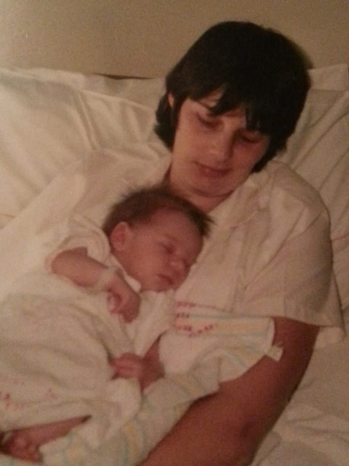 Dianne and her newborn daughter