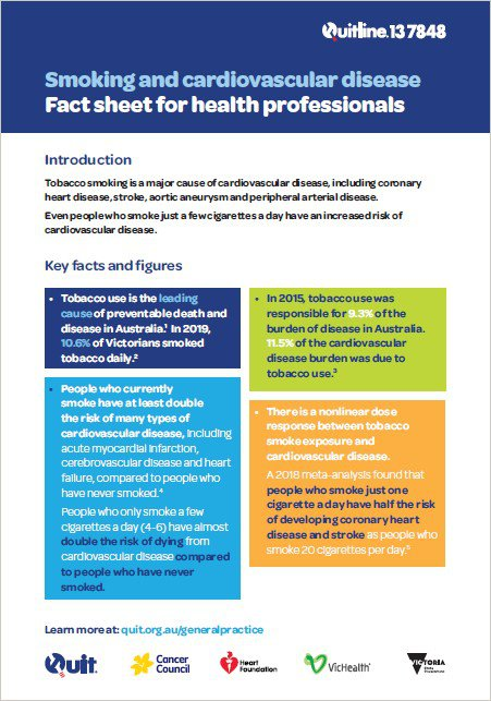 Smoking and CVD fact sheet for health professionals